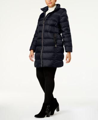 MICHAEL Michael Kors Plus Size Packable Down Puffer Coat