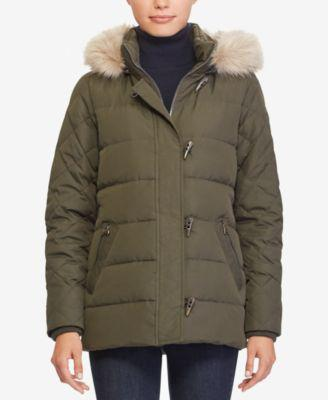 Lauren Ralph Lauren Toggle Puffer Down Coat, Created for Macy's