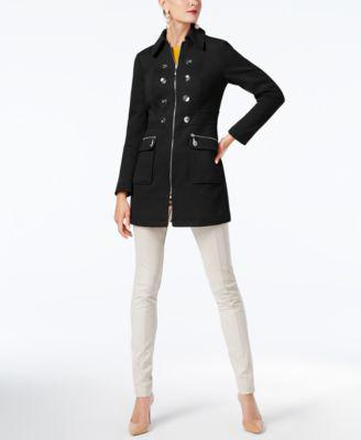 INC International Concepts Button-Trim Coat, Created for Macy's