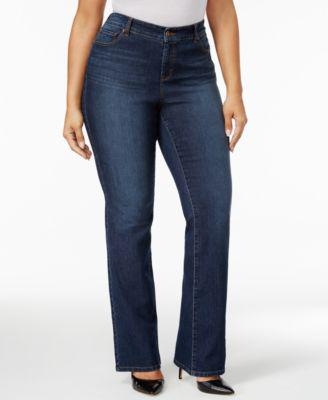 Style & Co Plus Size Tummy-Control Bootcut Jeans, Created for Macy's