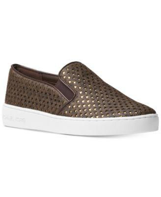 MICHAEL Michael Kors Keaton Star-Perforated Slip-On Sneakers, A Macy's Exclusive Style