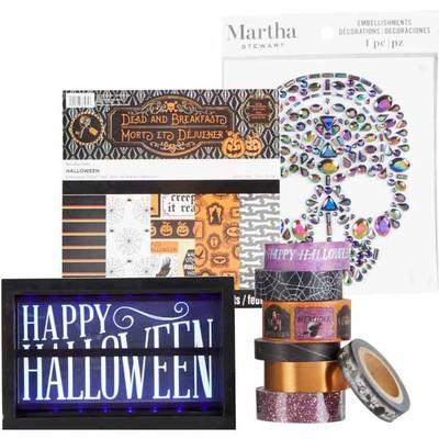 Halloween Paper, Stickers, Embellishments & Stamps