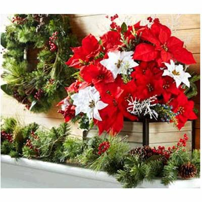 Christmas Bushes, Garlands, Wreaths & Accents