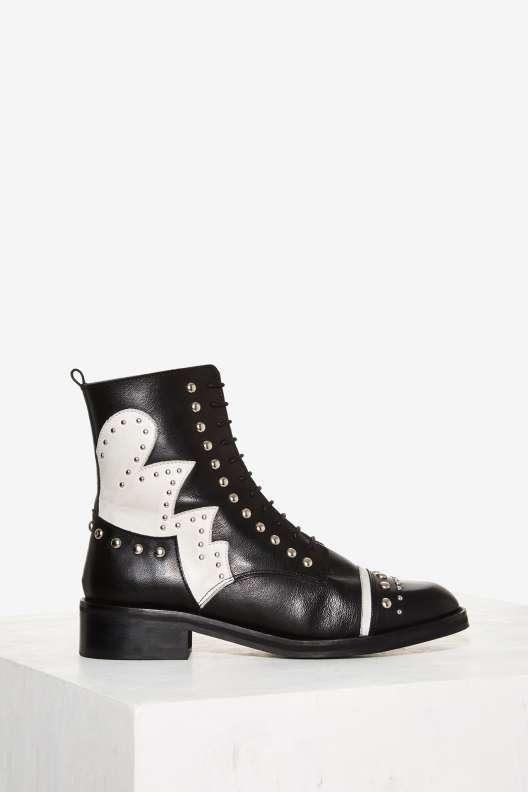 Nasty Gal Susannah Studded Leather Boot