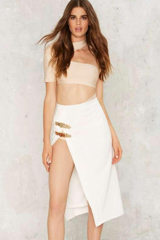 BOSSA Give a Buckle Pencil Skirt