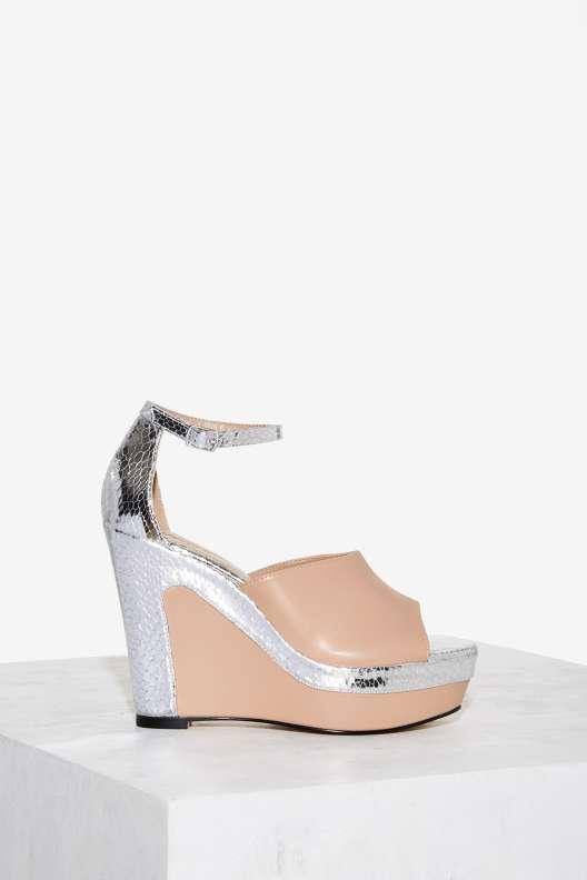 Nasty Gal Angela Wedge Heel