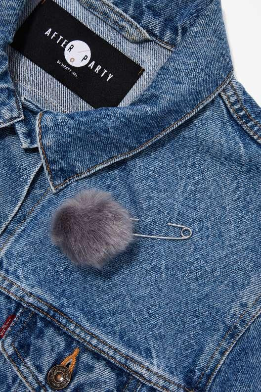 Kieran Faux Fur Safety Pin Brooch