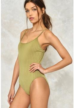 Let's Get Physical Ribbed Bodysuit