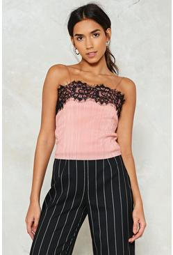 As You Pleat Lace Crop Top