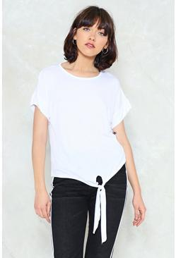 Tie to Keep Up Relaxed Tee