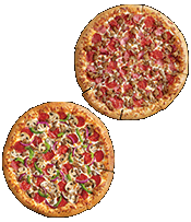 $6.99 EACH: 2 Medium Pizzas, ANY™ Toppings