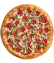 $13 LARGE 5-TOPPING OR SPECIALTY PIZZA
