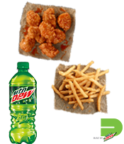Dew Tour Individual Bone-Out Wing Meal