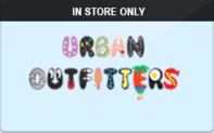 Urban Outfitters (In Store Only) Gift Cards