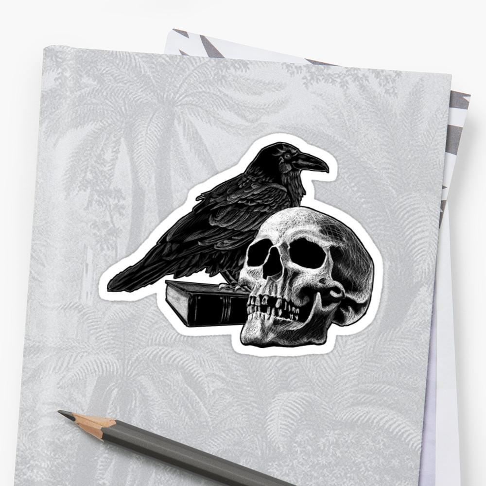 Quoth the Raven with Skull