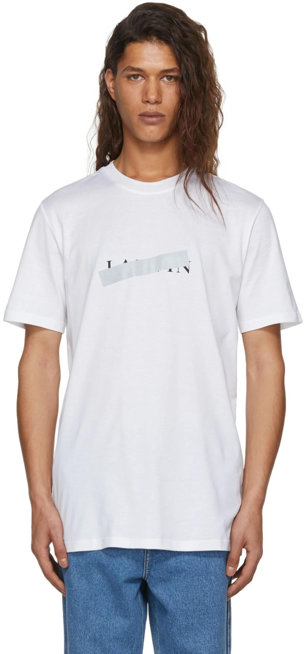 Lanvin - White Crossed Out Logo T-Shirt