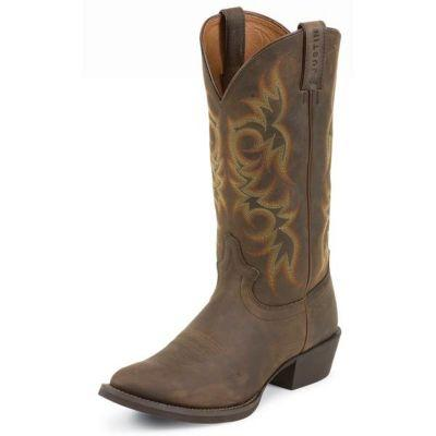 Justin Men's 13 in. Stampede Collection Boot, Sorrel Apache Brown