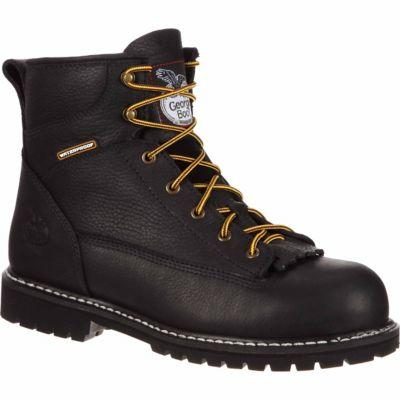 Georgia Boot Men's 6 in. Lace-To-Toe Steel Toe Logger Boot