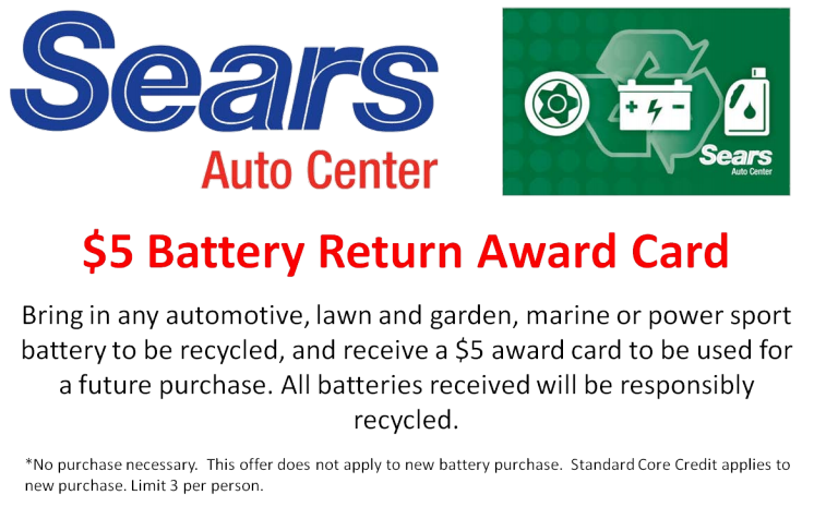Enjoy $5 Off On Battery Recycling