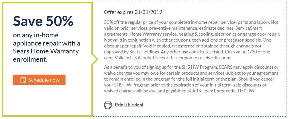 Take 50% On Home Appliance.