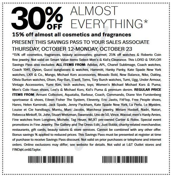 Get 30% Off Clothing And Accessories