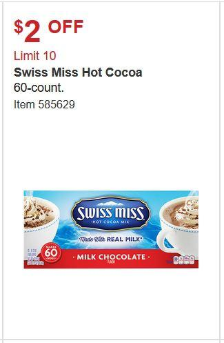 Save $2 On Swiss Miss Hot Cocoa