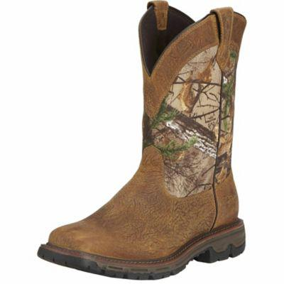 Ariat Men's Conquest Wide Square Toe H20 11 in. Hunting Boot, Brush Brown