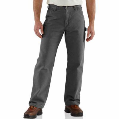 Carhartt Men's Washed Duck Flannel-Lined Work Dungaree
