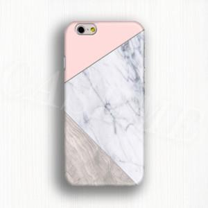 Pink And Grain On Marble Phone Case 3D phone cover
