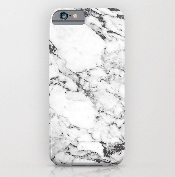 3D Dirt-Resistant Full Wrap White Marble Phone Cover