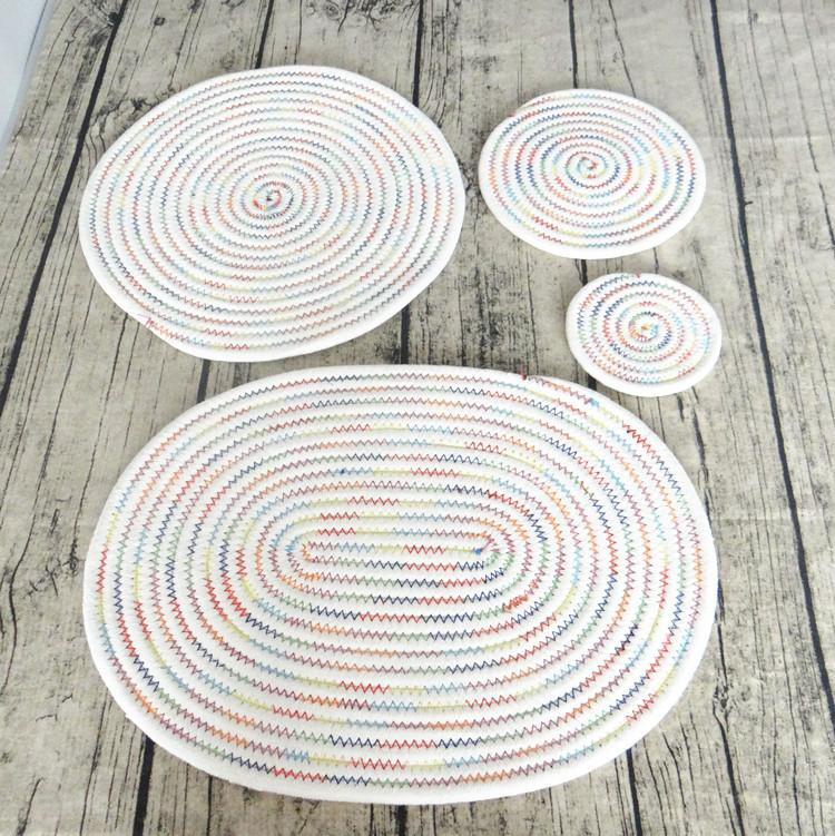 Cotton Braid Round Shape Handmade Table Placemats