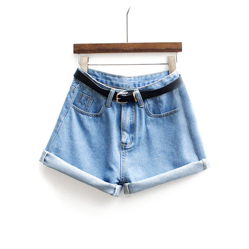 ROMWE Womens Brand Newest Spring Short Jeans