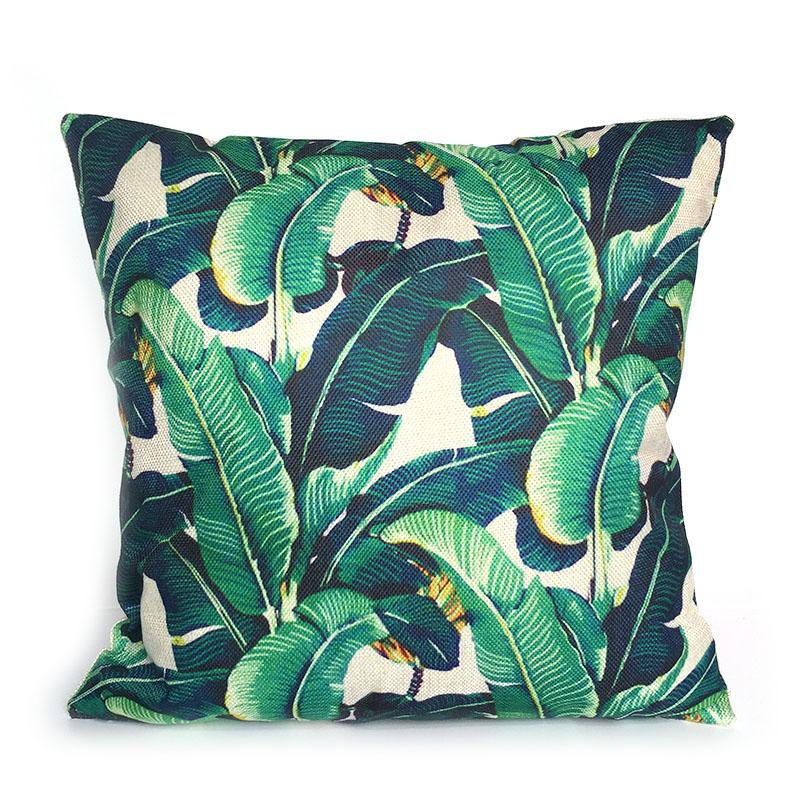 Tropical Leaf Pillow Decorative Tree Cushion Pillow