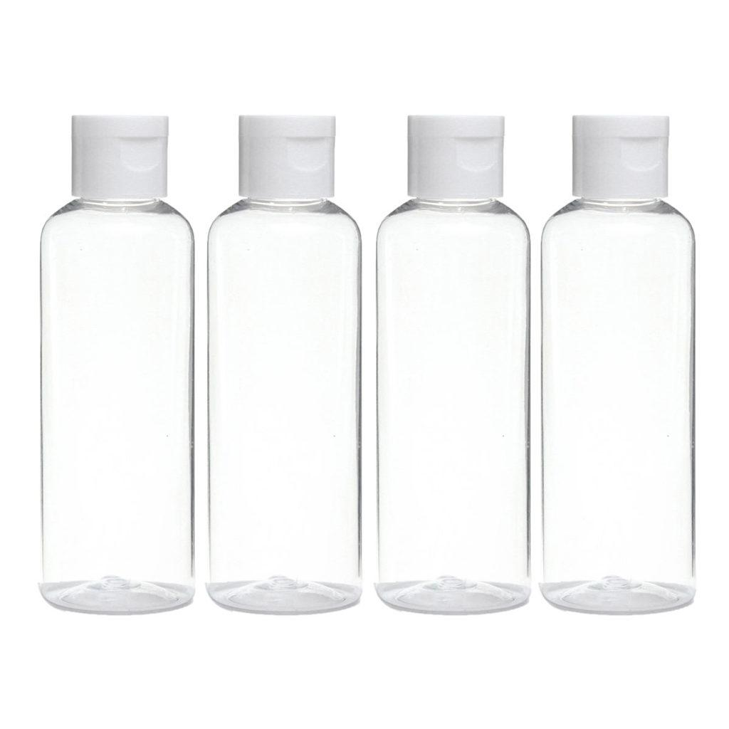 100ml Transparent Travel Bottle 4 Pack