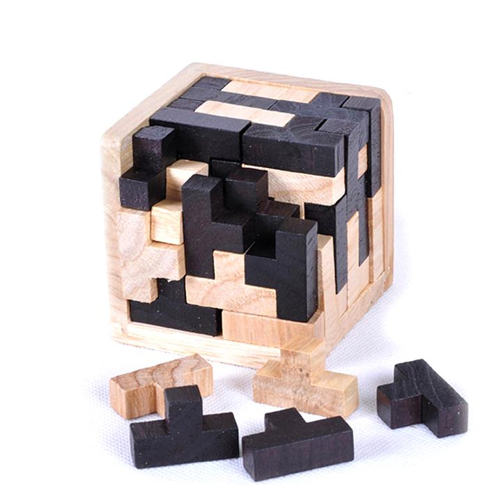 Baby Wooden Luban Block Puzzles Game