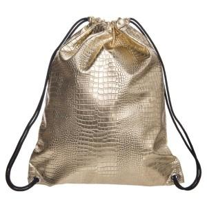 Womens Crocodile Leather Gold Gym Bag