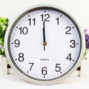 Large White Round Minimalist Wall Clock
