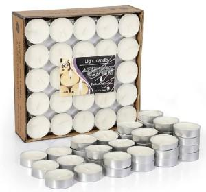 50 Pieces Scented Tealight Vanilla Candles