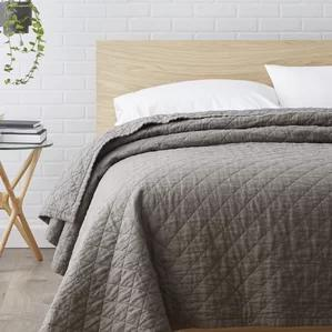 Susann Quilted Washed Belgian Linen Coverlet by Laurel Foundry Modern Farmhouse