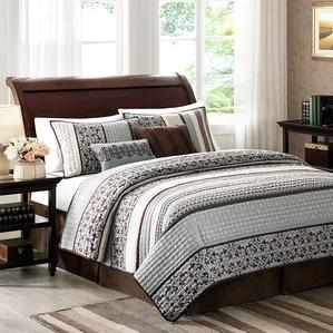 Ellwood 5 Piece Reversible Coverlet Set by Alcott Hill