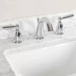 Brantford Double Handle Widespread Standard Bathroom Faucet by Moen