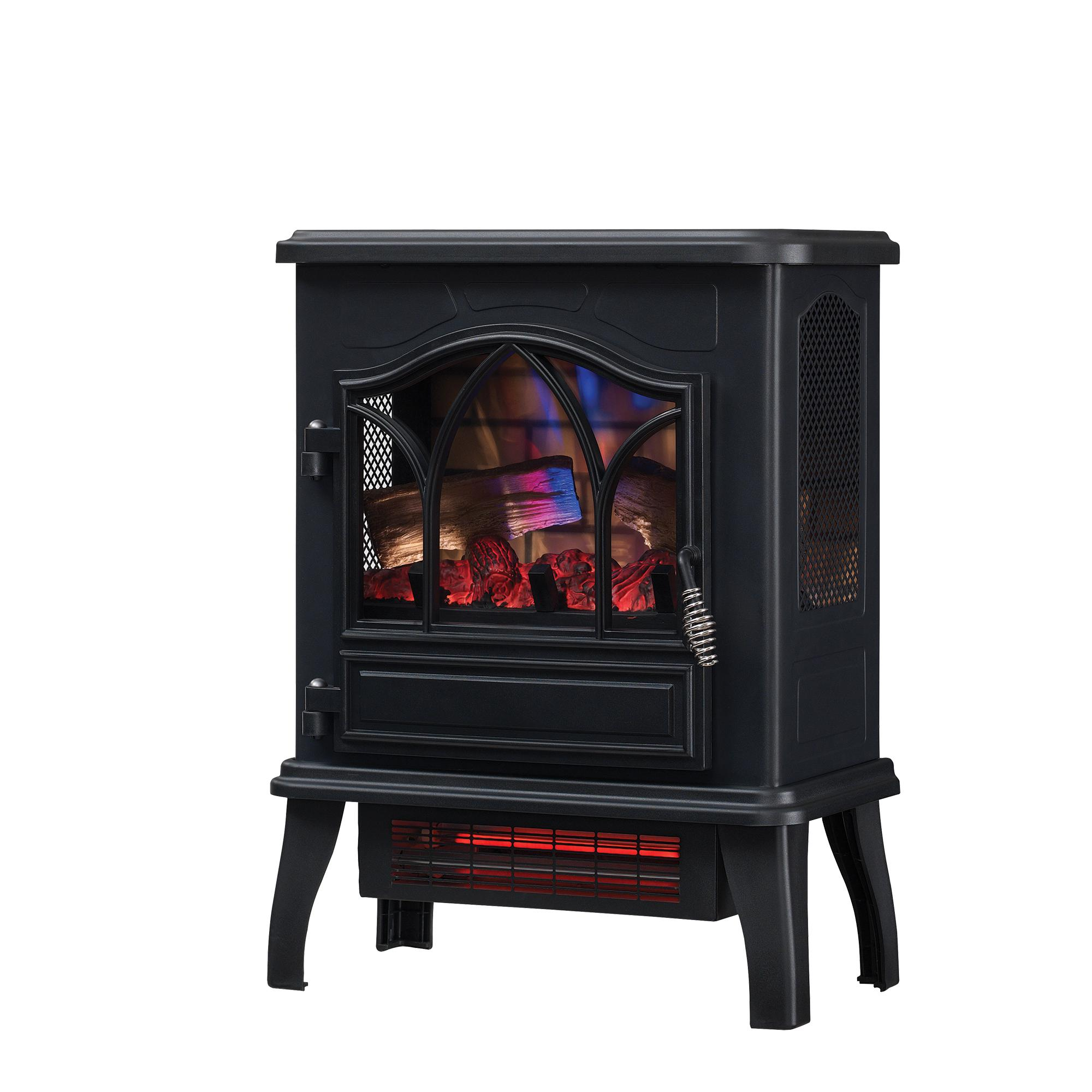 ChimneyFree Infrared Quartz Electric Space Heater, 5,200 BTU, Black Metal #CFI-470-02