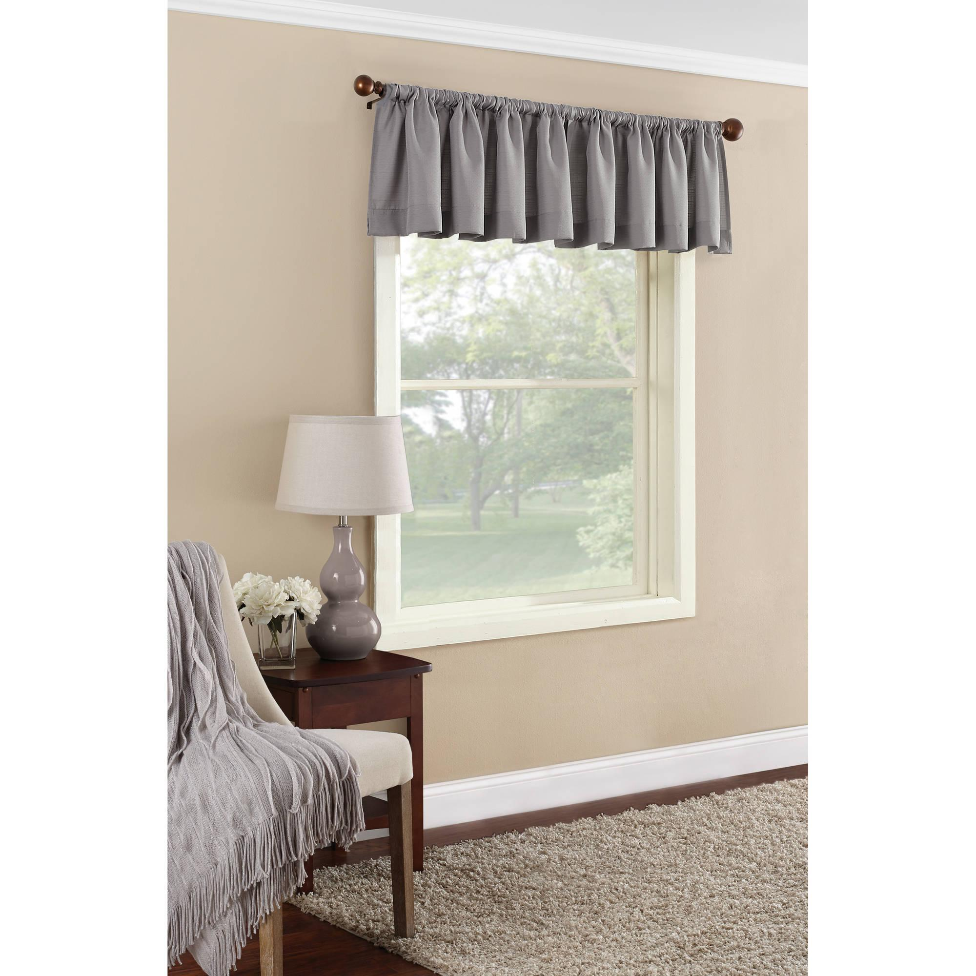 Mainstays Textured Solid Valance Curtain