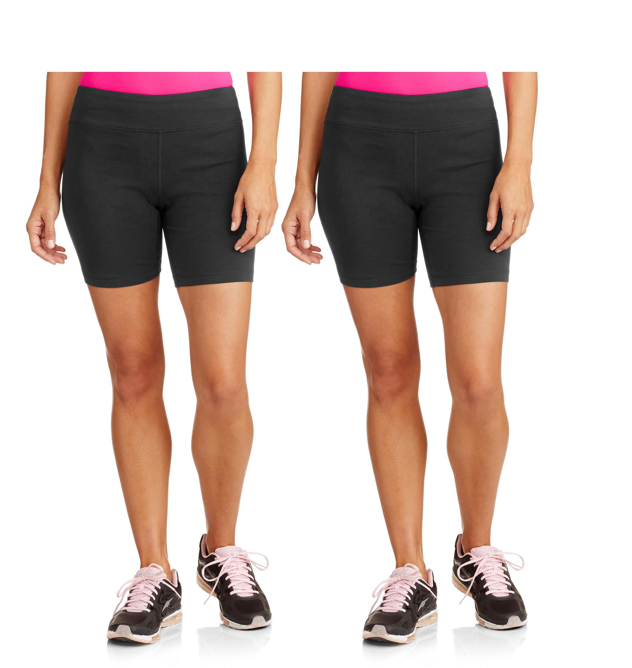 Danskin Now Women's Dri-More Core Bike Shorts, 2-Pack
