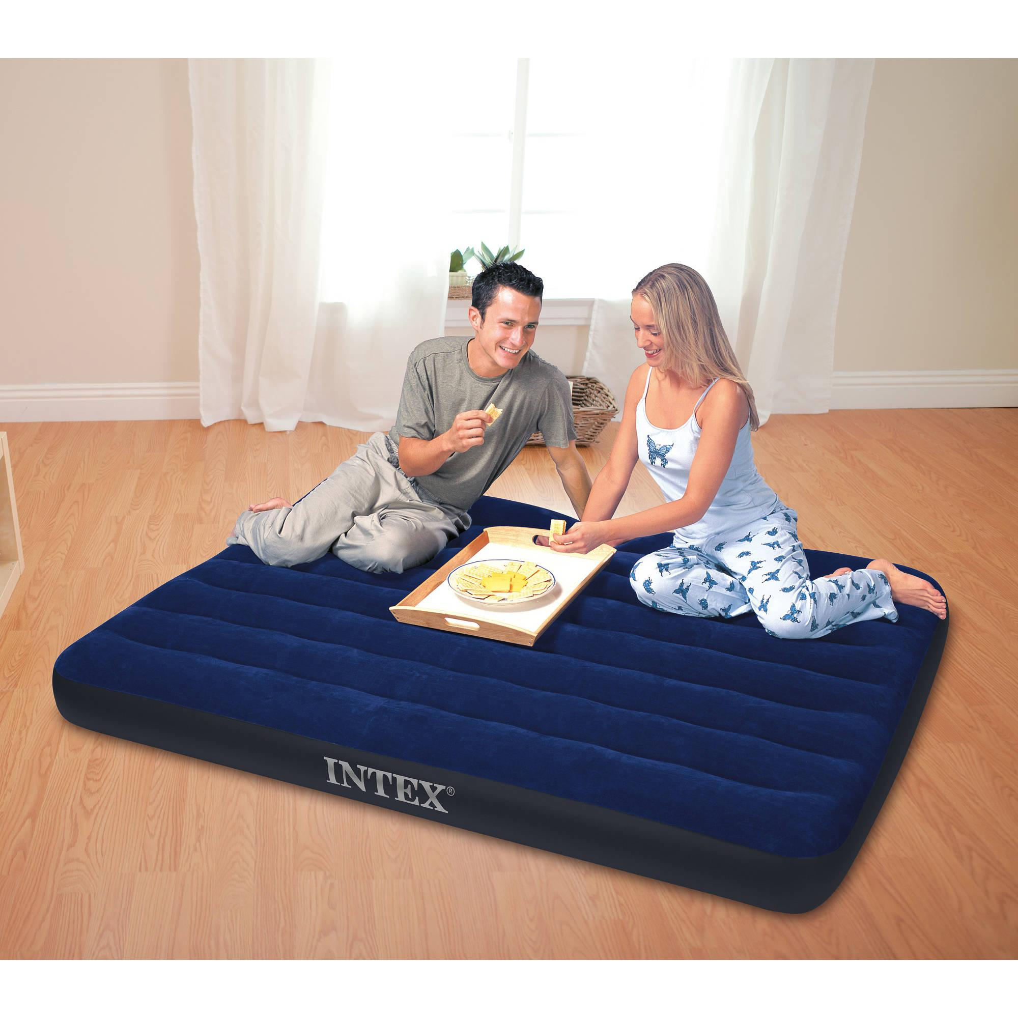 Intex Full 8.75 Classic Downy Inflatable Airbed Mattress