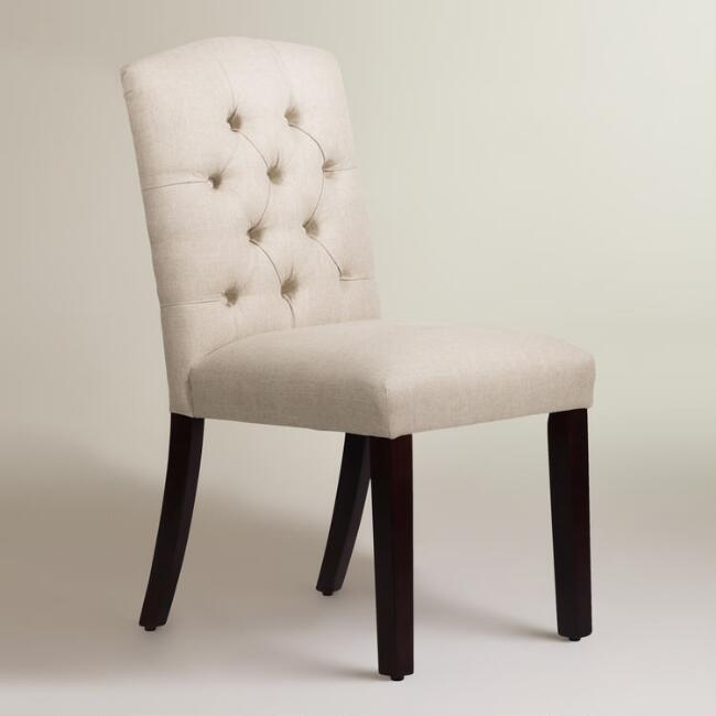Linen Tufted Zoey Upholstered Dining Chair Join World Market Explorer. get 15% off your first purchase! Join World Market Explorer. Get 15% off your first purchase! Account Support Account Support