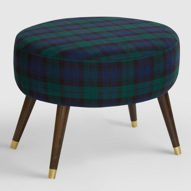 Oval Blackwatch Plaid Upholstered Ottoman Join World Market Explorer. get 15% off your first purchase! Join World Market Explorer. Get 15% off your first purchase! Account Support Account Support