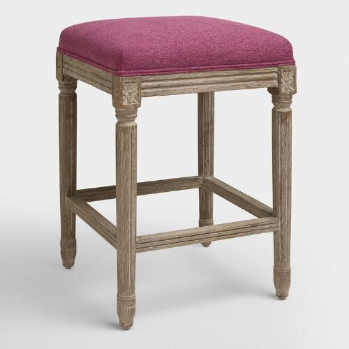 Raspberry Paige Backless Counter Stool