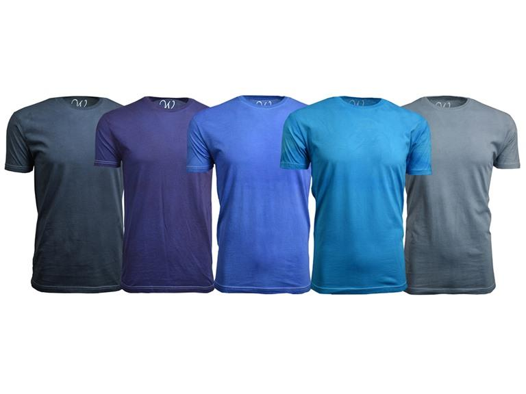 Ethan Williams 5-Pack Vintage Hand Dyed Crew Neck T-Shirt
