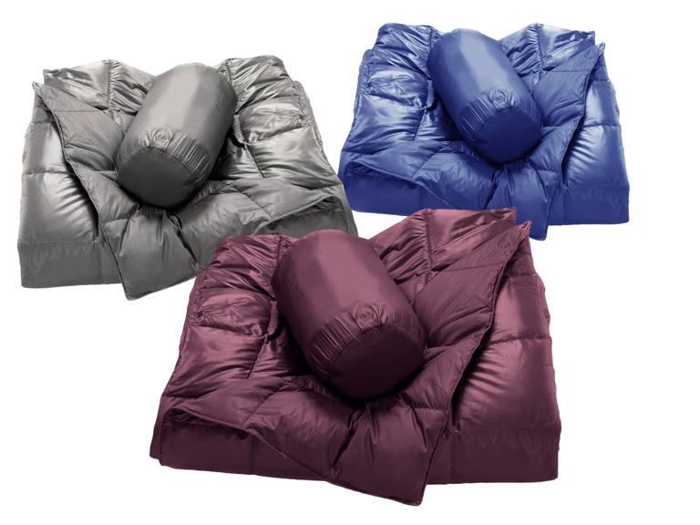 Packable Down Filled Throw - 6 Colors
